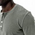 Tri-Blend Curved Hem Henley Mens T Shirts Tight Knit Henley Neck T shirt Men