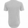 Hot sale plain 100% cotton t shirts short sleeve mens scoop scallop hem t shirts