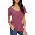 Wholesale Vneck Tshirt Women Summer