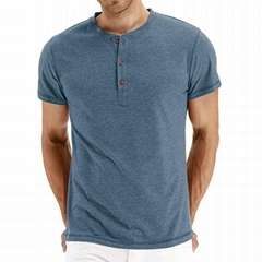 Men's Casual Slim Fit Short Sleeve