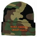 Trump Make America Great Again Hats Collection Ski Winter Beanie Hat Multi Color