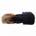 Red pom pom beanie knit men knitted beanies College knit hat custom logo 5