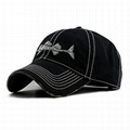 Men's embroidery Baseball Cap Fishing Gorras with Fish bones cotton Dad Hats