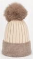 Wholesale cashmere hat beanie fox fur pom beanie warm winter knitted ski cap