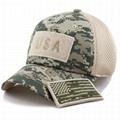 Stylish hats camo mesh back hats unstructured 6 panel baseball cap American flag 2