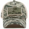 Stylish hats camo mesh back hats unstructured 6 panel baseball cap American flag 3