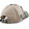 Stylish hats camo mesh back hats unstructured 6 panel baseball cap American flag 5