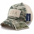 Stylish hats camo mesh back hats unstructured 6 panel baseball cap American flag