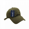 6 panel dad hat plain distressed baseball cap long strap fashion hip hop cap
