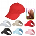 Wholesale red Baseball Ponytail Cap for lady hairs hats ponycap sports hat