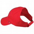 Wholesale red Baseball Ponytail Cap for