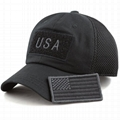 Low profile gorras baseball cap American flag hat tactical operator patch hat