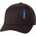 Wholesale 6 panel pin striped blank easy wear full size caps men baseball hat