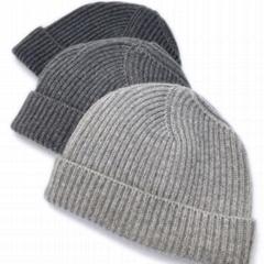 Best Selling 100% Merino Wool Beanie Custom Knit Hat Fisherman Beanie Cap