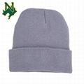 Womens Long Winter Hat Knit Skull Fleece Ski Cap Skully Merino Wool Warm Beanie