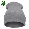 Womens Long Winter Hat Knit Skull Fleece