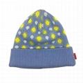 Beanie Hat Custom Logo Baby Beanie Cotton Own Design Jacquard Hat Winter Beanie  2