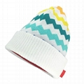 Beanie Hat Custom Logo Baby Beanie Cotton Own Design Jacquard Hat Winter Beanie  3