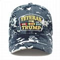Trucker Hat Veterans for Trump Camouflage Baseball Cap HooK and Loop Closure Hat 2
