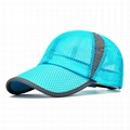Wholesale mesh baseball caps breathable quick dry trucker hat sun visor hat