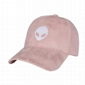 Vintage Suede Dad Baseball Cap Hat Snapback Adjustable Aliens Embroidery Classic