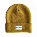 Merino Wool Knit Beanie For Keeping Warm Factory Price Blank Beanie Fold