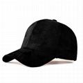 Hot selling plain suede dad hat custom embroidery logo cap men baseball cap
