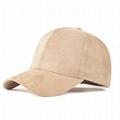 Hot selling plain suede dad hat custom