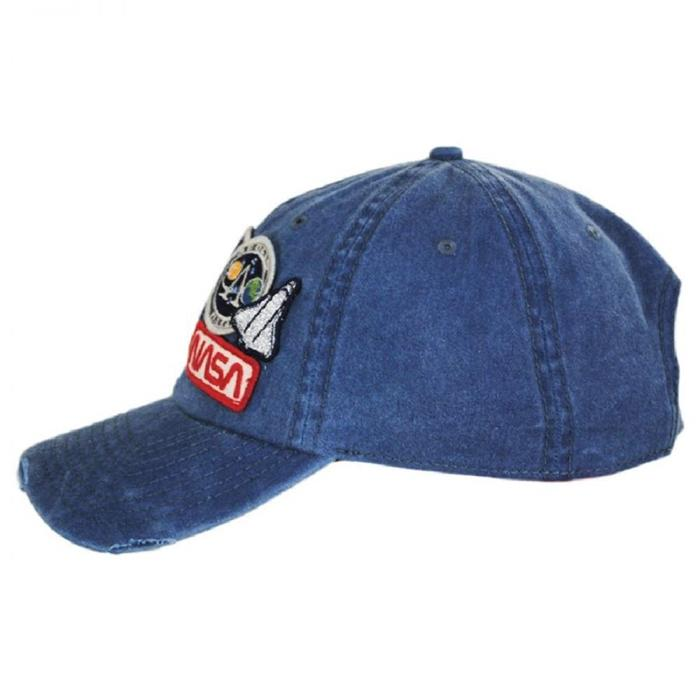 Iconic Embroidered Patch Distressed Dad Hat NASA Vintage Washed Cotton Cap 2