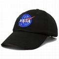 Iconic Embroidered Patch Distressed Dad Hat NASA Vintage Washed Cotton Cap 5