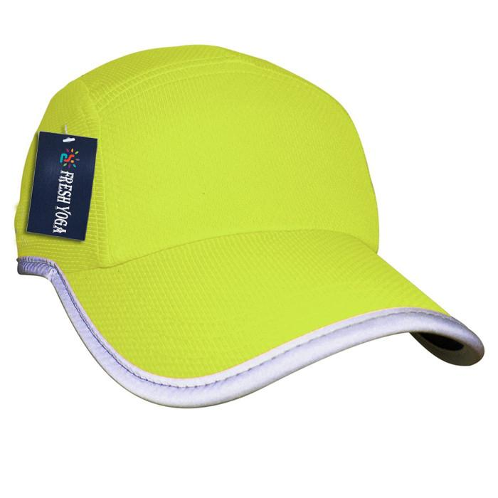 Race running hat Reflective outdoor sports cap polyester hats wholesale