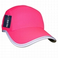 Race running hat Reflective outdoor sports cap polyester hats wholesale 5