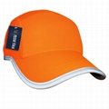 Race running hat Reflective outdoor sports cap polyester hats wholesale 6