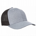 Men's Melange Stretch Full Size Mesh Cap Hand Wash Trucker Hat