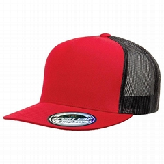 Hot sale 6 panel the classic snapback sticker cap blank mesh trucker hat