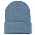 Wholesale Winter Hat Cuffed Fold Beanie Unisex Soft Warm Knit Custom Beanie Hat
