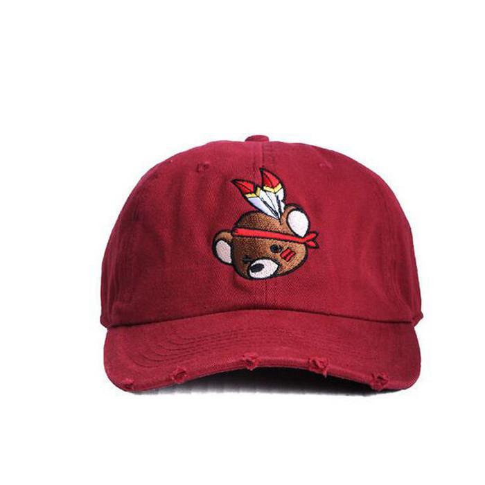 Kids baseball hats custom Vintage 3d embroidery caps hats with metal adjustable