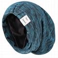 Slouchy Beanie Hat Custom Logo Adjustable Satin Lined Sleep Cap Skull Cap