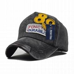 Deep grey Basic Ball Cap Pierced Applique Baseball Hat Trucker Snapback Hats