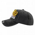 Deep grey Basic Ball Cap Pierced Applique Baseball Hat Trucker Snapback Hats  3
