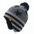 Hot sale women custom beanie hat with earflap thermal winter hats beanie Baby