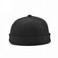 Brimless Baseball Cap Without Visor Hats Skull Sailor Cap Rolled Cuff Retro Hat