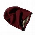 Custom sublimation beanie satin lined cap blank spandex rayon hat slouchy beanie