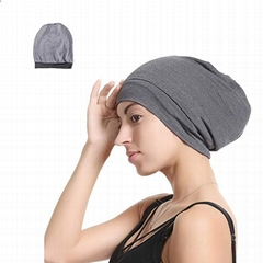 Women Sleep Hat Satin Lined Bonnet Beanie Premium Satin Silk Lined Beanie Hat