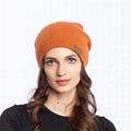 Custom Women Slouchy Beanie Wholesale Winter Hat With Leather Logo Warm OEM