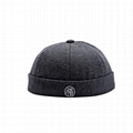 Skully Beanie Hat Hip hop Beanie Embroidery Brimless Cap Street Skully Hat