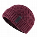 Mens knitted wave beanie hat Gorros De