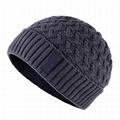 Mens knitted wave beanie hat Gorros De Lana Straight Needle Knit Hat Custom