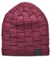 Custom Chunky Knit Waterproof Beanies Sparkly Slouch Basketball beanie