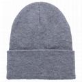 Custom Slouchy Beanie Hat Winter Skullies Beanies Hat Green Fold Beanie Hats  2